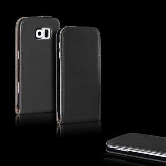 More about Schwarz Flip Leder Etui Tasche Samsung Galaxy S6