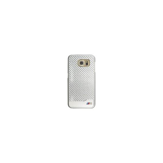 BMW Faceplate für Samsung G920F Galaxy S6 Carbon Silber