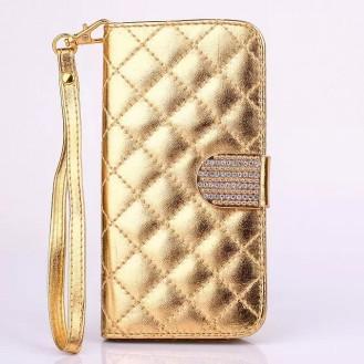 More about Bling Gold Leder Kreditkarte Etui Samsung Galaxy S6
