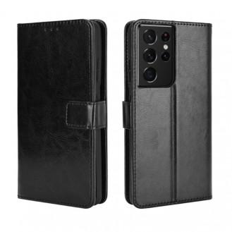 Samsung Galaxy S21 Ultra Book Case Wallet Schutzhülle Tasche Etui Schwarz