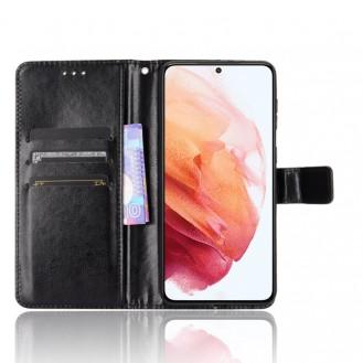 Samsung Galaxy S21 Plus Book Case Wallet Schutzhülle Tasche Etui Schwarz