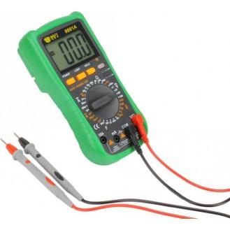 Digital Multimeter BEST 9801A, Grün inkl. Messspitzen und Transporttasche