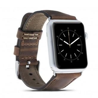 Bouletta Leder Watch Gurt für Apple Watch für 42mm / 44mm - Antic Braun