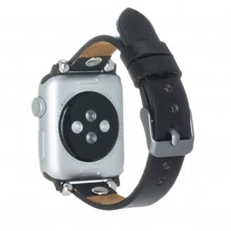 Bouletta Leder Trokya Uhrenarmband für Apple Watch 42mm / 44mm - Rustikal Schwarz
