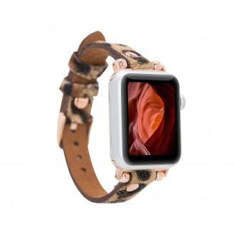 Bouletta Leder Watch Slim Band für Apple Watch 42-44mm Leopar Hairy