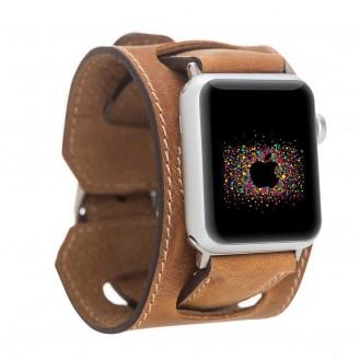 Bouletta Lederarmband für Apple Watch  42mm / 44 mm - Antic Tan