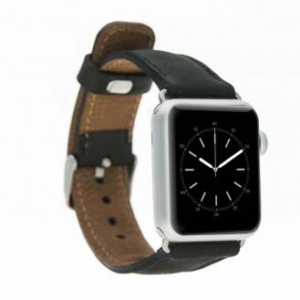 Bouletta Leder Watch Gurt für Apple Watch 42mm / 44mm - Antic Schwarz