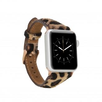 Bouletta Leder Watch Slim Band für Apple Watch 42-44 mm Leopar Hairy