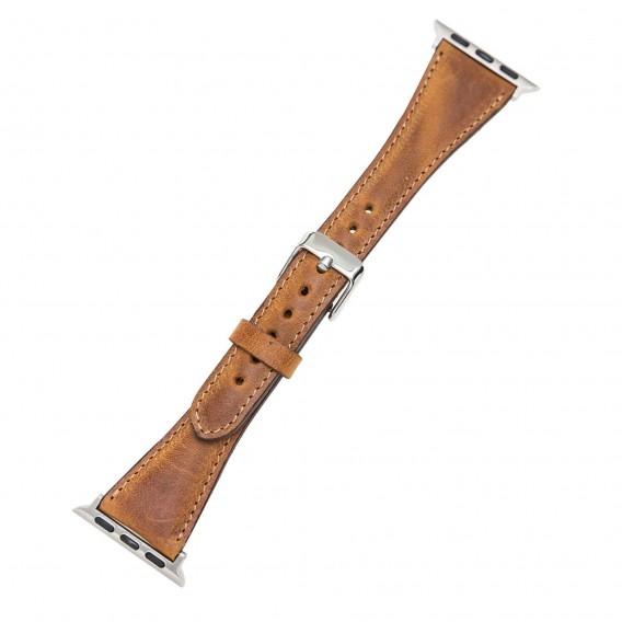 Bouletta Leder Watch Slim Band für Apple Watch 42-44 mm Vegetal Brown