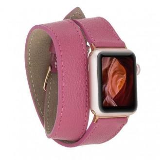 Bouletta Double Tour Leder Watch Band für Apple Watch 38-40mm / 42-44 mm - CP04