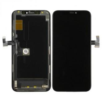 LCD Display Hard OLED, kompatibel mit iPhone 11 Pro, Schwarz A2215, A2160, A2217