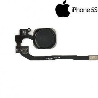 Homebutton knopf Flexkabel Touch ID Sensor Schwarz iPhone 5S A1453, A1457, A1518, A1528, A1530, A1533