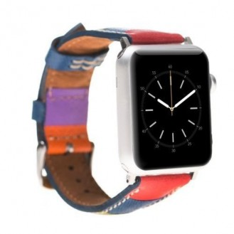 Bouletta Leder Watch Gurt für Apple Watch 38mm / 40mm - Saffiano Regenbogen