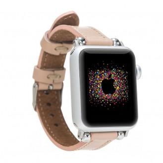 Bouletta Leder Ferro Uhrenarmband für Apple Watch  42mm / 44mm - Nackt Pink