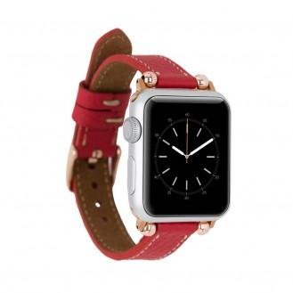 Bouletta Leder Ferro Uhrenarmband für Apple Watch  42mm / 44mm - Floater Rot