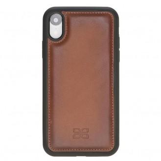 Bouletta Flex Cover Back Leder Case für iPhone XR Braun