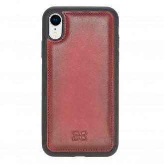 Bouletta Flex Cover Back Leder Case für iPhone XR Rot