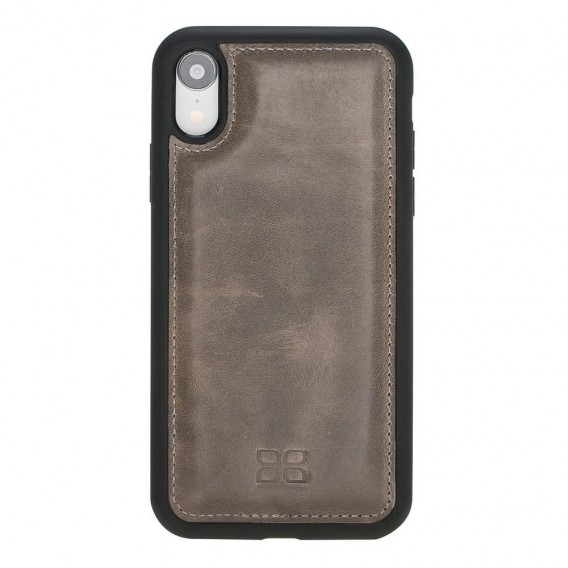 Bouletta Flex Cover Back Leder Case für iPhone XR Vegatal Tan