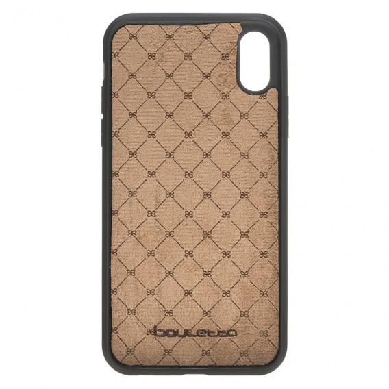 Bouletta Flex Cover mit Kartenfach Back Leder Case für iPhone XR Antik Braun