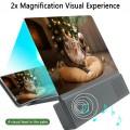 """12"""" Handy 3D Bildschirm Lupe HD-Vergrösserungslupe Stereo Lautsprecher"""