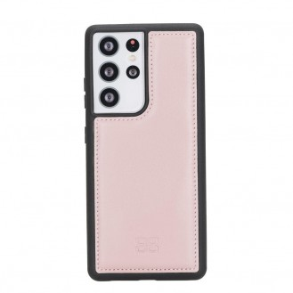 BOULETTA FLEX COVER BACK LEDER CASE FÜR SAMSUNG GALAXY S21 Ultra - Pink