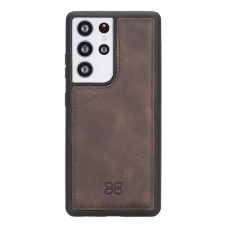 BOULETTA FLEX COVER BACK LEDER CASE FÜR SAMSUNG GALAXY S21 ULTRA- Dark Brown