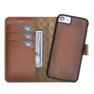 Bouletta Echt Leder Magic Wallet iPhone SE 2020 / 7 / 8 Braun