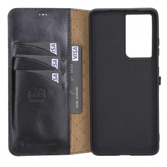 BOULETTA WALLET FOLIO CASE ID SLOT MIT RFID SAMSUNG GALAXY S21 ULTRA - Black