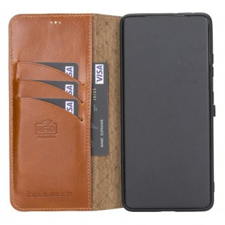 BOULETTA WALLET FOLIO CASE ID SLOT MIT RFID SAMSUNG GALAXY S21 ULTRA - Tan