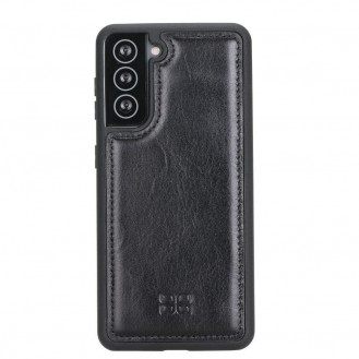 BOULETTA FLEX COVER BACK LEDER CASE FÜR SAMSUNG GALAXY S21 - Rustic Black