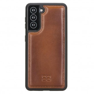 BOULETTA FLEX COVER BACK LEDER CASE FÜR SAMSUNG GALAXY S21 - Rustic Tan