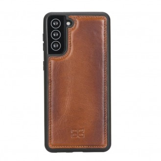 BOULETTA FLEX COVER BACK LEDER CASE FÜR SAMSUNG GALAXY S21 - Tan