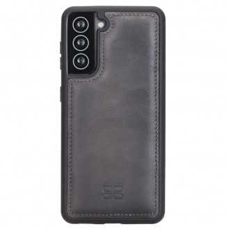 BOULETTA FLEX COVER BACK LEDER CASE FÜR SAMSUNG GALAXY S21 Tiguan Grey