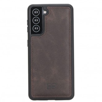 BOULETTA FLEX COVER BACK LEDER CASE FÜR SAMSUNG GALAXY S21- Dark Brown