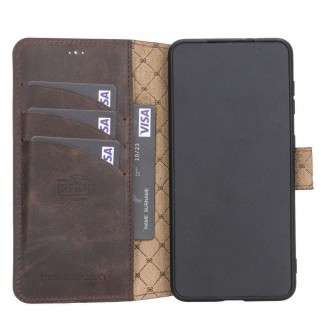 BOULETTA WALLET FOLIO CASE ID SLOT MIT RFID SAMSUNG GALAXY S21 - Dark Brown