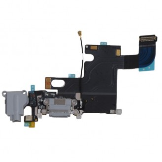 "Audio Jack, Dock Connector, Mikrofon Flexkabel iPhone 6 4,7"" Grau"