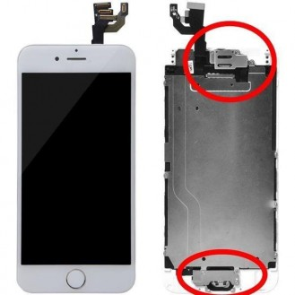 iPhone 6 Plus Oem LCD Display Weiss Vormontiert