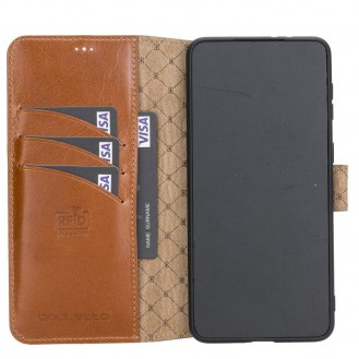 BOULETTA WALLET FOLIO CASE ID SLOT MIT RFID SAMSUNG GALAXY S21 PLUS- Tan
