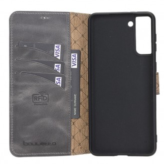 BOULETTA WALLET FOLIO CASE ID SLOT MIT RFID SAMSUNG GALAXY S21 PLUS - Gray