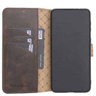 BOULETTA WALLET FOLIO CASE ID SLOT MIT RFID SAMSUNG GALAXY S21 PLUS - Dark Brown