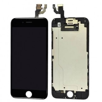 iPhone 6 LCD Display Schwarz Vormontiert