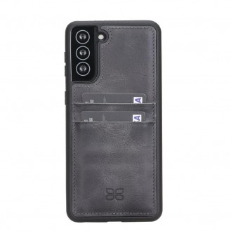 BOULETTA FLEX COVER BACK LEDER CASE MIT KARTENFACH FÜR SAMSUNG GALAXY S21 PLUS- Grey