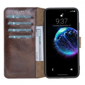 Bouletta Wallet Folio Ledertasche mit ID - Slot für Apple iPhone XS MAX - Vesselle Braun
