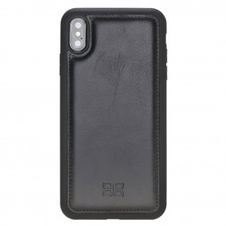 Bouletta Flex Cover Back Leder Case für iPhone XS Max Rustic Black
