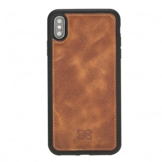 Bouletta Flex Cover Back Leder Case für iPhone XS Max Tiguan Tan with Vein