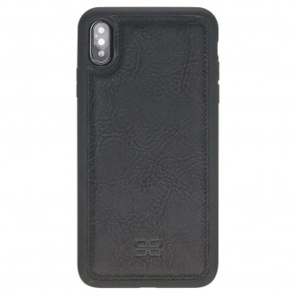 Bouletta Flex Cover Back Leder Case für iPhone XS Max Vegetal Black 2