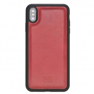 Bouletta Flex Cover Back Leder Case für iPhone XS Max Vegetal Red 1
