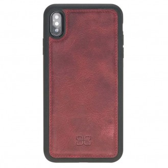 Bouletta Flex Cover Back Leder Case für iPhone XS Max Vegetal Red 2
