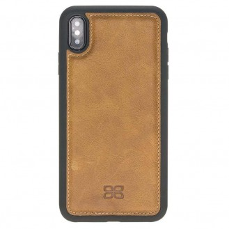 Bouletta Flex Cover Back Leder Case für iPhone XS Max Vegetal Tan