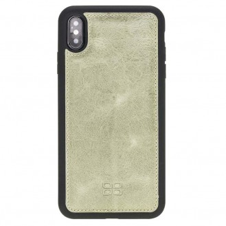 Bouletta Flex Cover Back Leder Case für iPhone XS Max Vegetal Water Green